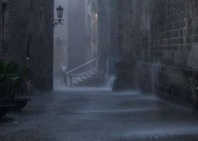 Raining in BCN