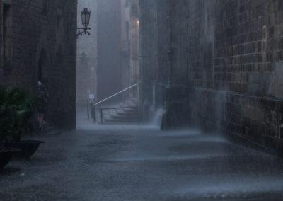 Rain in Barcelona