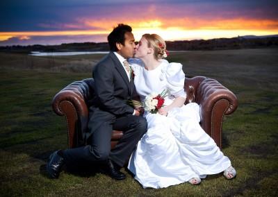 Chesterfield wedding sofa