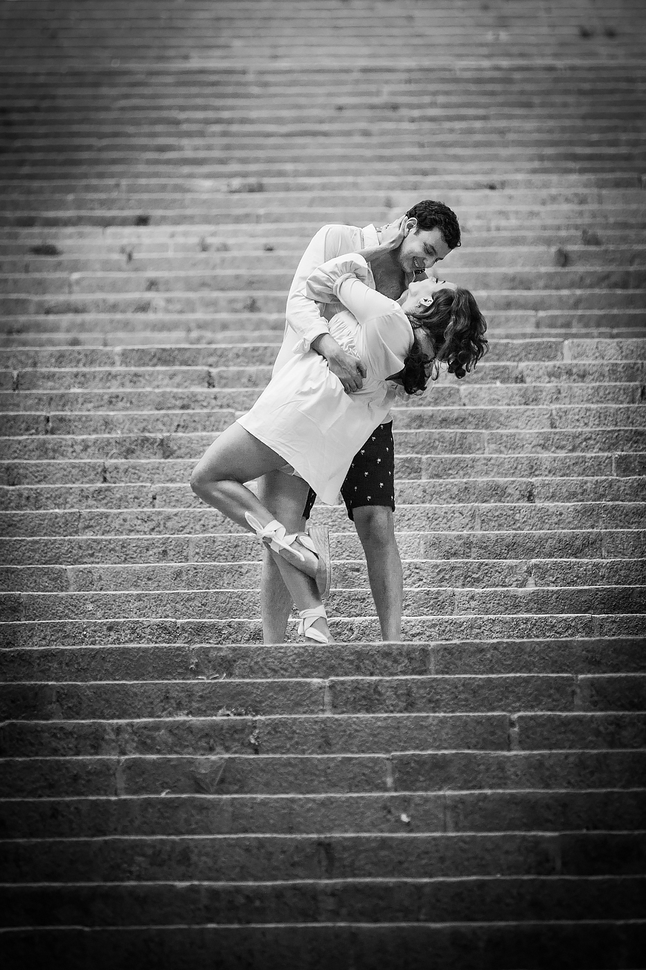 Stairs kiss