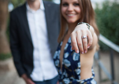 Se said yes in PArk Guell